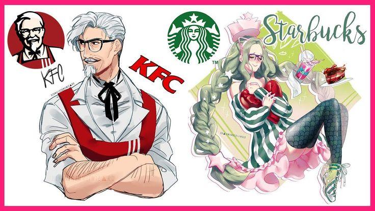 Artist turns famous fast food mascots into anime