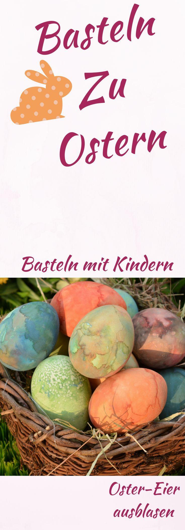 Ostereier färben leicht gemacht! Basteln zu Ostern mit Kind! #mama #eltern #familie