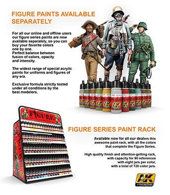 Figure paints available separately & Figure series paint rack!!