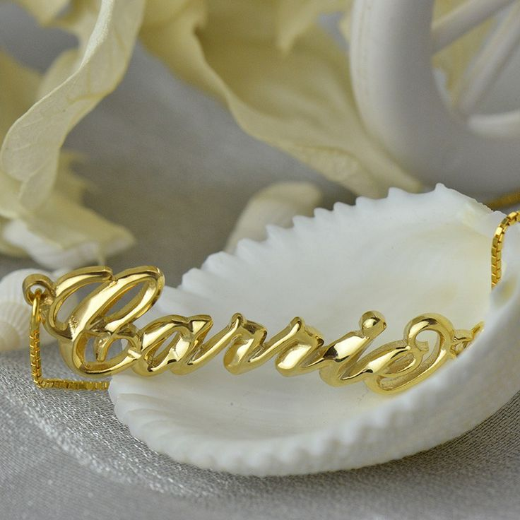 PERSONALISED 3D EFFECT CARRIE #NAMENECKLACE 18CT GOLD PLATING  Creating your own fashion and stylish name necklace with unique 3D design. Our 3D Carrie style name necklace has more humanization design,and it's back is flat so that it won't hurt your skin and the rest of it is 3D . The design of 3D Carrie name necklace also unique in the market.It's more shining and have better quality and  perspective than normal necklace.
