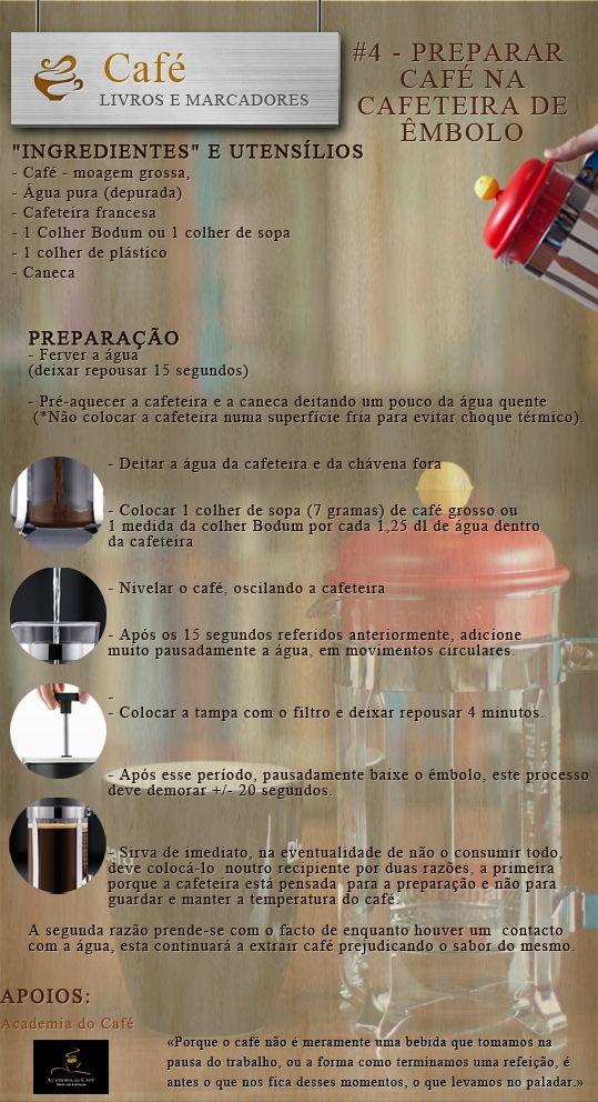 Livros e marcadores: #4 Como preparar café na cafeteira de êmbolo (Cafe...