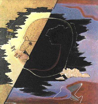 Filippo Tommaso Marinetti, poeta parolibero. Esta obra, pintada en 1929 por E. Pampolini, refleja el espíritu de Marinetti, el fundador del futurismo italiano.