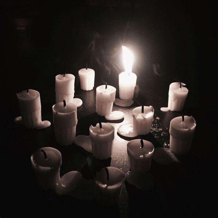 Christmas candles. Merry Christmas
