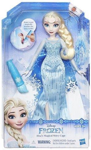 Met deze Frozen pop kun je urenlang spelen. Dit keer is de pop gekleed in de magische jurk van Elsa. Deze kunststof popo is 32 centimeter hoog en gebaseerd op het figuur uit de populaire Disney-film. De pop is geschikt voor kinderen vanaf drie jaar.   Afmeting: 324x64x203 mm - Fashion Princess Frozen magische jurk: Elsa