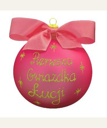 #Bombka z imieniem lub #Twoją indywidualną #dedykacją do kupienia na http://swetryswiateczne.pl/pl/