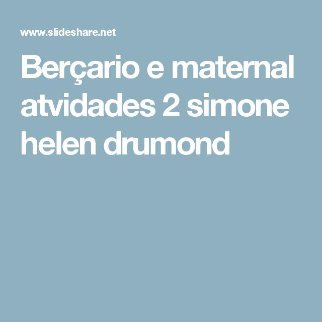 Berçario e maternal atvidades 2 simone helen drumond