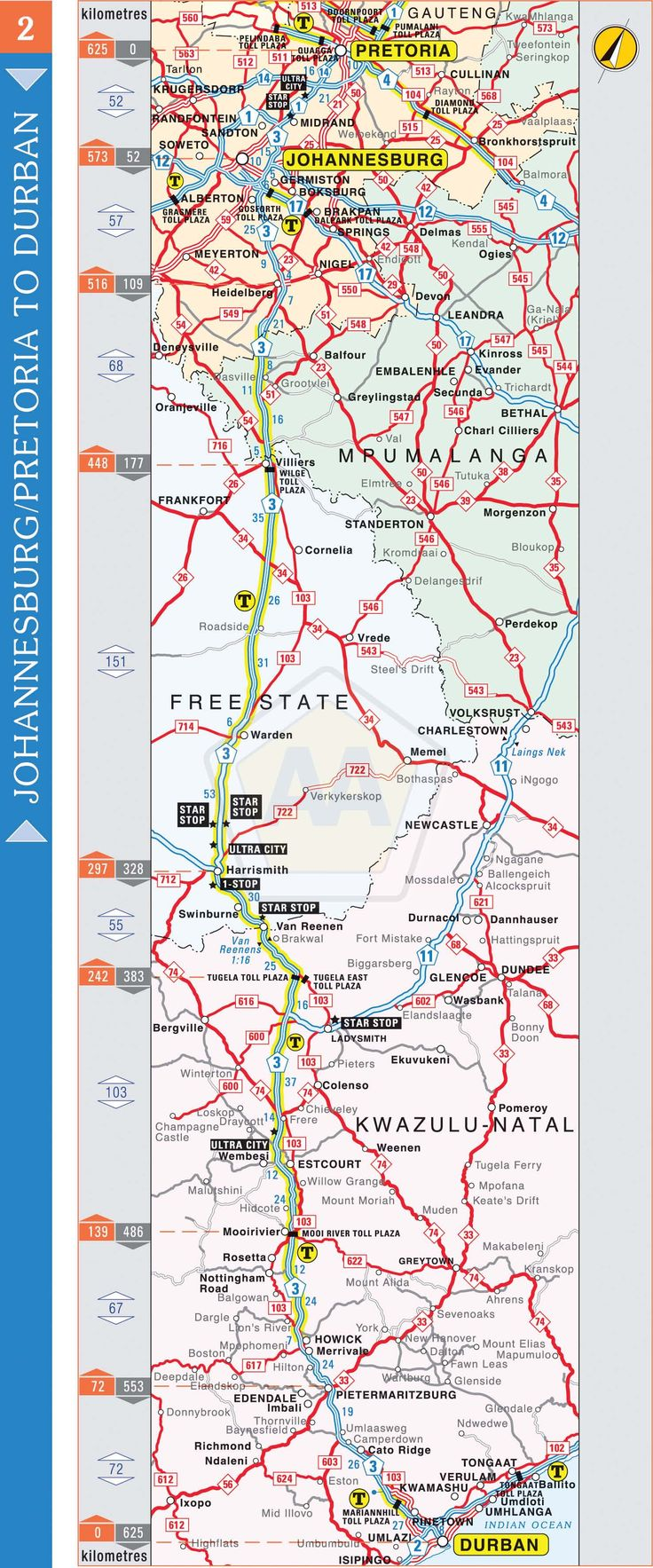 Johannesburg / Pretoria to Durban | Automobile Association