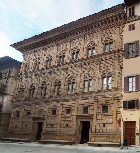 rucellai palace - AlbertiPalazzo Rucellai is a palatial 15th-century townhouse on the Via della Vigna Nuova in Florence, Italy. The Rucellai Palace is believed by most scholars to have been designed by Leon Battista Alberti between 1446 and 1451 and executed, at least in part, by Bernardo Rossellino. Its facade was one of the first to proclaim the new ideas of Renaissance architecture based on the use of pilasters and entablatures in proportional relationship to each other.