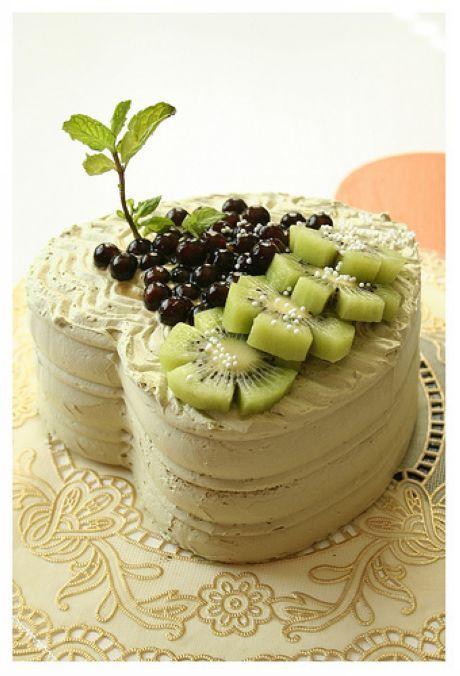 Maccha kiwi fruit cake