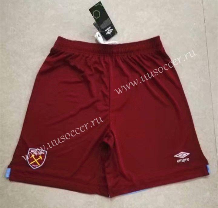 Maroon UMBRO 2019-2020 West Ham Home Football Shorts