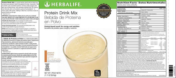 https://flic.kr/p/NRG8Dg | Herbalife Protein Drink Mix Peanut Cookie Ingredients | Boost your protein intake with the new Protein Drink Mix Peanut Cookie. Simply add to your favorite Formula 1 shake for 24 g of total protein or enjoy as a delicious snack! Go To www.goherbalife.com/shedpounds/en-US/Catalog/Weight-Manag... to get yours #herbalife #herbalifepdm #herbalifeproteindrinkmixpeanutcookie #herbalifepeanutcookie
