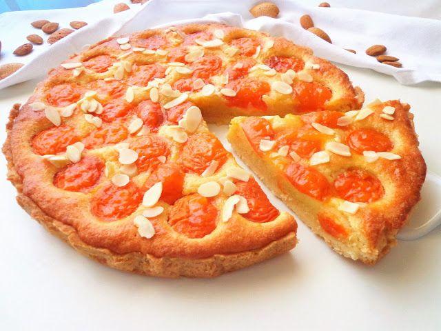 """Tarta z morelami i kremem migdałowym """"frangipane"""" (Crostata con albicocche e crema di mandorle """"frangipane"""")"""