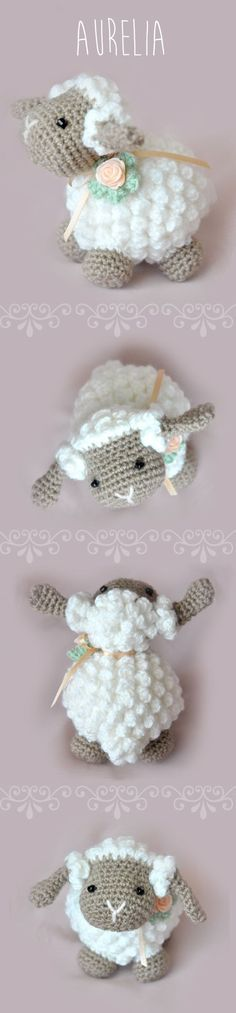 ¡Hola! Hoy os traigo el patrón de una linda ovejita tejida en crochetcon la técnica de amigurumi . La ovejita de la imagen es de http://chicaoutlet.blogspot.com.ar/2015/01/oveja-aurelia.html En esa dirección obtendréis todos los pasos para que os quede como en la foto, lana, medidas, puntos… Aun así os dejo también la dirección de donde Laura, la…