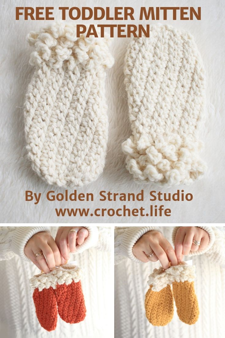Free Toddler Mittens Crochet Pattern Easy Diy Crochet By