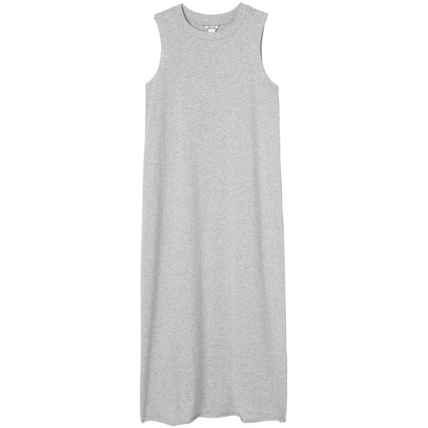 Monki Hardie dress (£11) ❤ liked on Polyvore featuring dresses, vestidos, tops, grey, grey cloud melange, grey dress, grey summer dress, summer dresses, gray dress and gray summer dresses