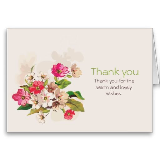 """Cosmos Flowers"" Thank you Card"