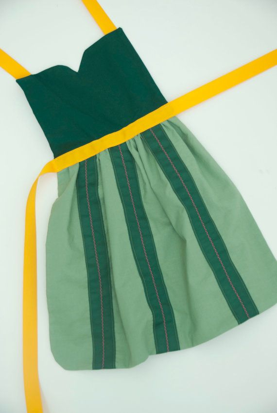 Frozen princess Anna coronation dress up apron for toddlers and little girls on Etsy, $28.00