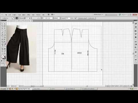 Model uygulamalı etek 40 / The model applied pattern skirt 40