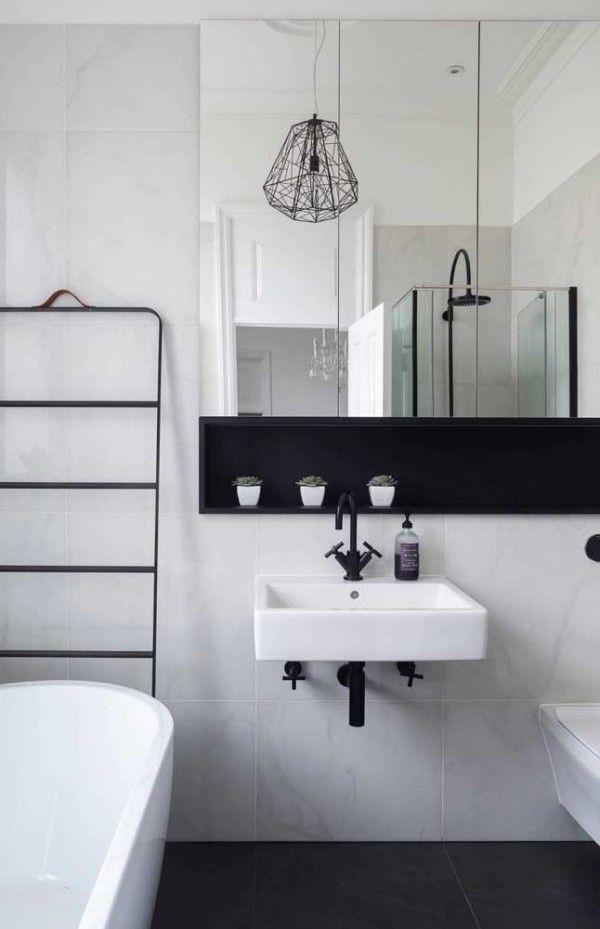 Über 60 Ideen für moderne Wandgestaltung mit Nischen   Bad ...