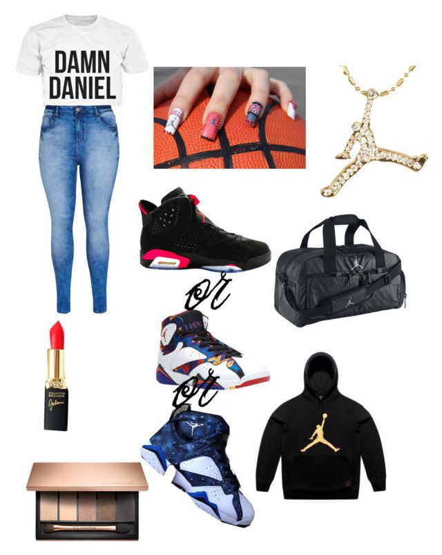 """waring all Jordan"" by isabellmarie28 ❤ liked on Polyvore featuring City Chic, NIKE, Jordan Brand, October's Very Own and L'Oréal Paris"