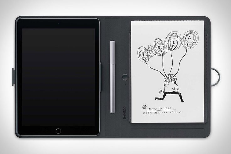 You might already use a Wacom tablet to capture your digital scribbles. Now you can rely on their technology to capture your real ones, too. The Wacom Bamboo Spark Notebook holds a standard A4 notepad, letting you write and doodle...