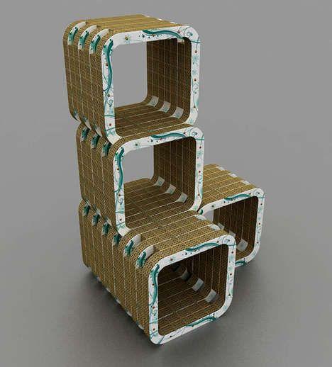 Curvy Cardboard Furniture
