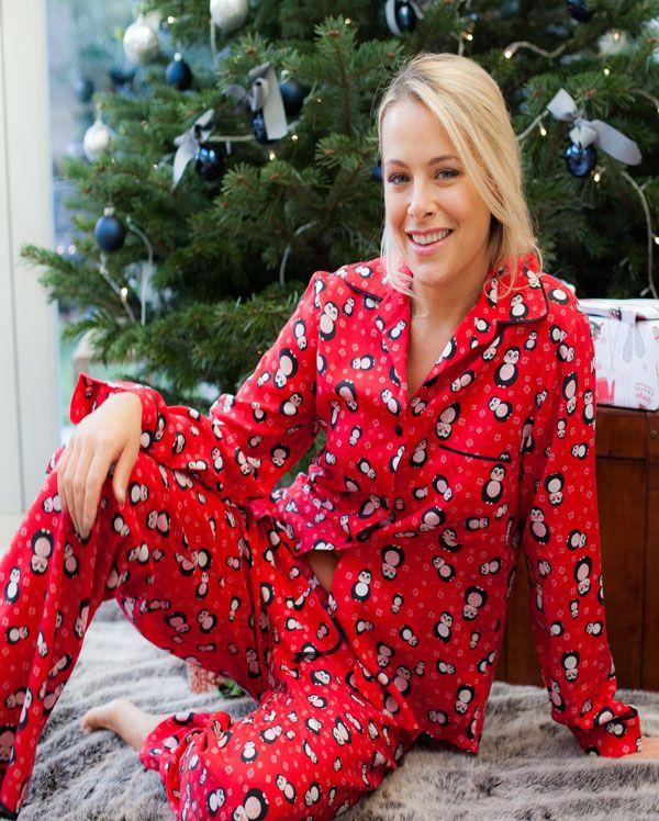 Novelty Brushed Penguin Printed Pyjamas #montythepenguin #ilovepenguins