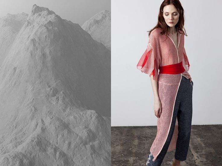 #ss17 #springsummer #wool #line #dustercoat #trousers #grey #red #beige #neutral #knit #knitted #collection #designer #russiandesigner #kseniaseraya