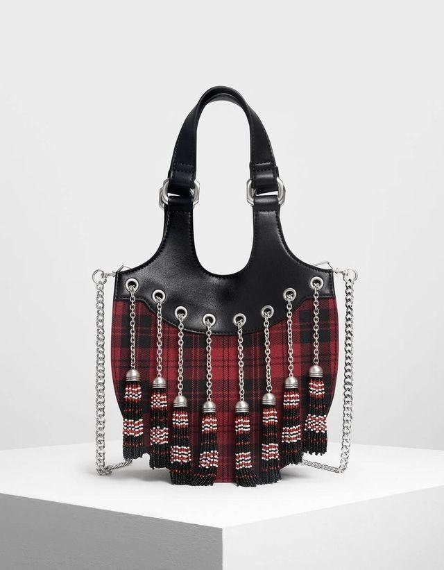 fec990b8e5 Tassel Detail Hobo Bag