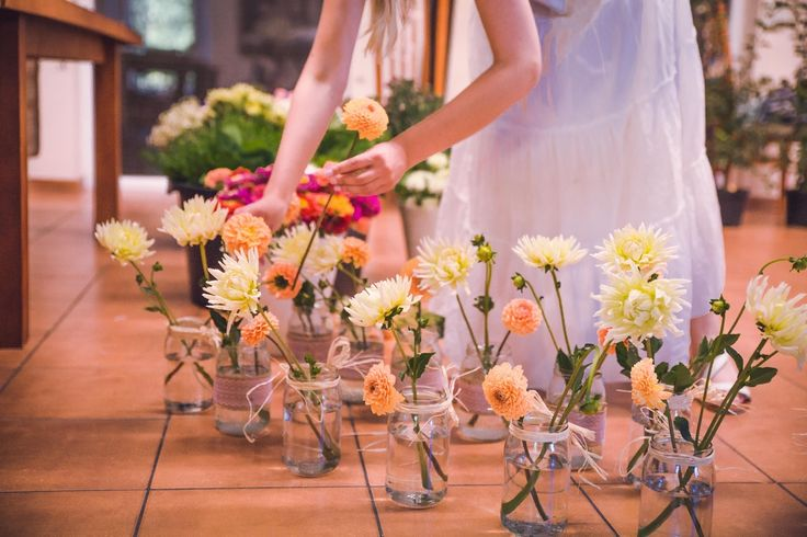 #decoration #wedding #flowers #rustic #bouquet