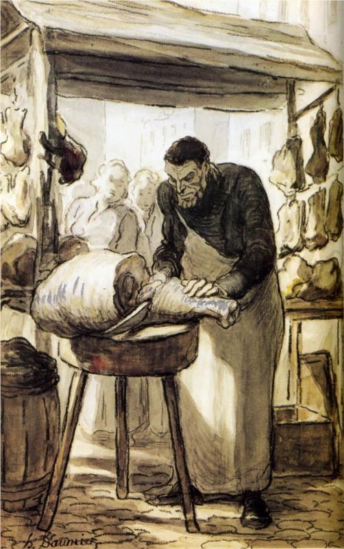 le boucher, Honoré Daumier