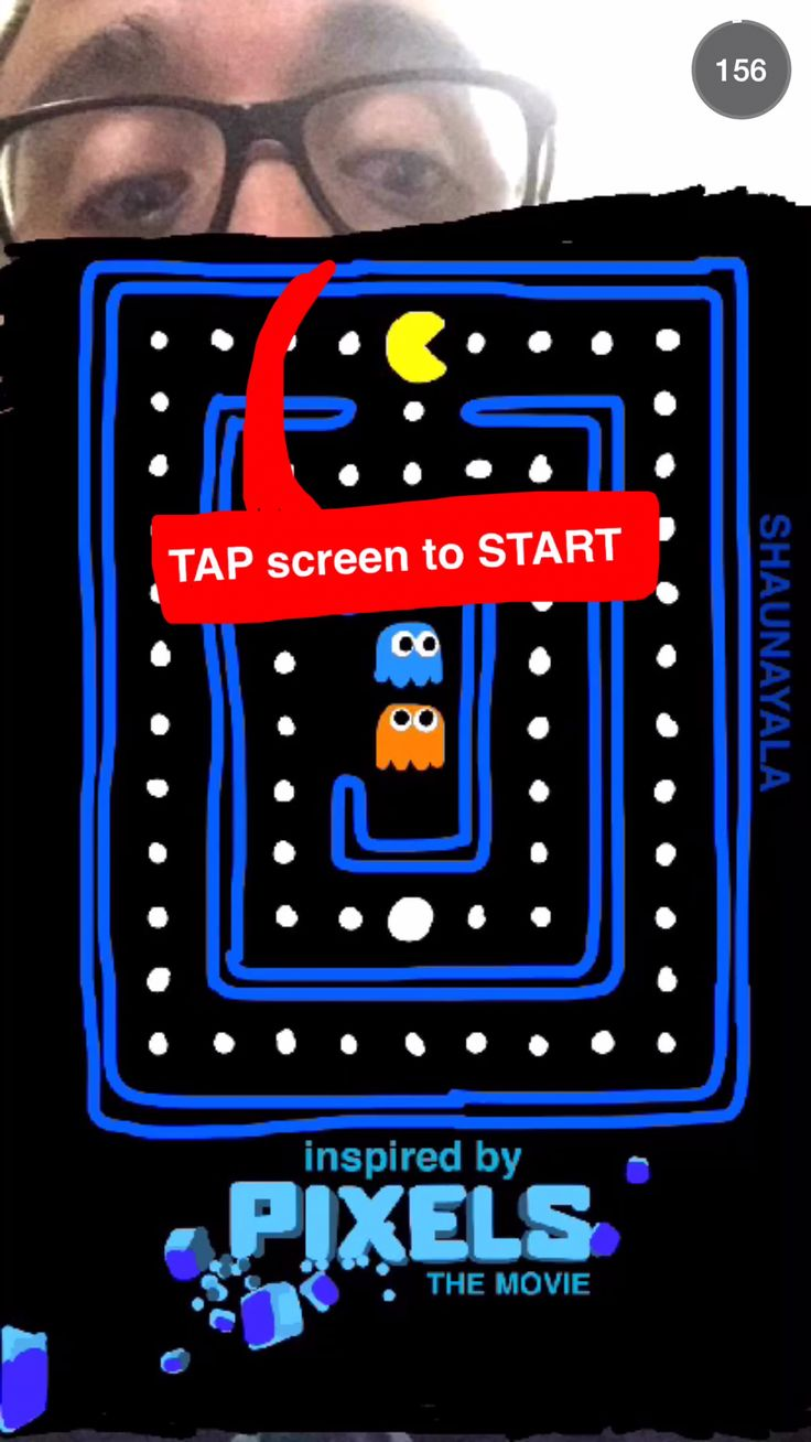 An Interactive Pac Man Snapchat Story Game Inspired By The