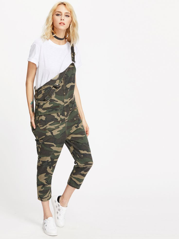 Shop Camo Print Dungaree With Pockets online. SheIn offers Camo Print Dungaree With Pockets & more to fit your fashionable needs.