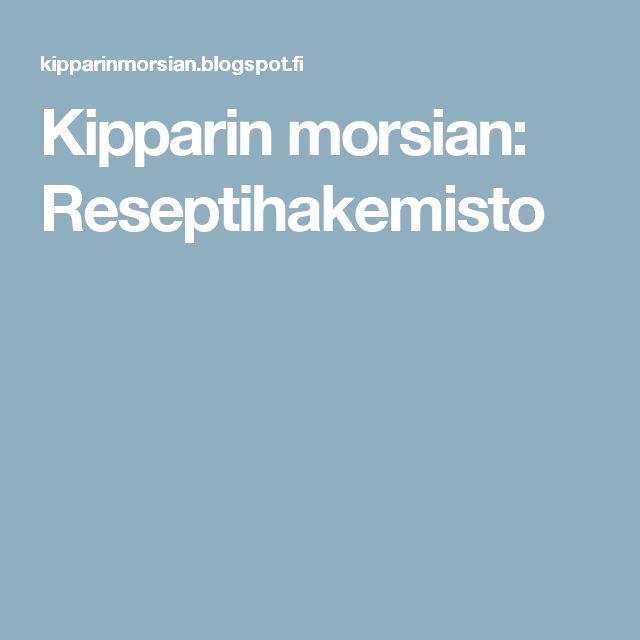 Kipparin morsian: Reseptihakemisto