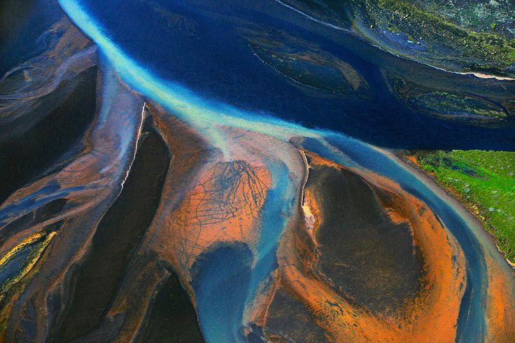 Þjórsá - River mouth from air by Sigmundur  Andresson on 500px
