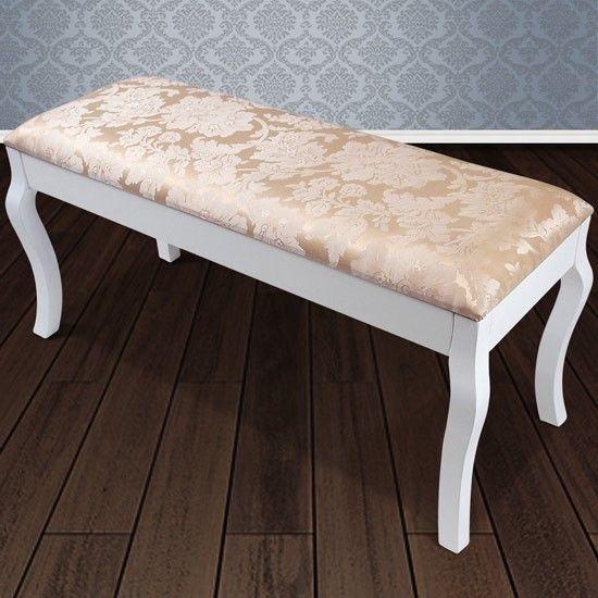 Houten tweezits bank - In victoriaanse stijl  - Perfect te combineren met een make up tafel of kaptafel.