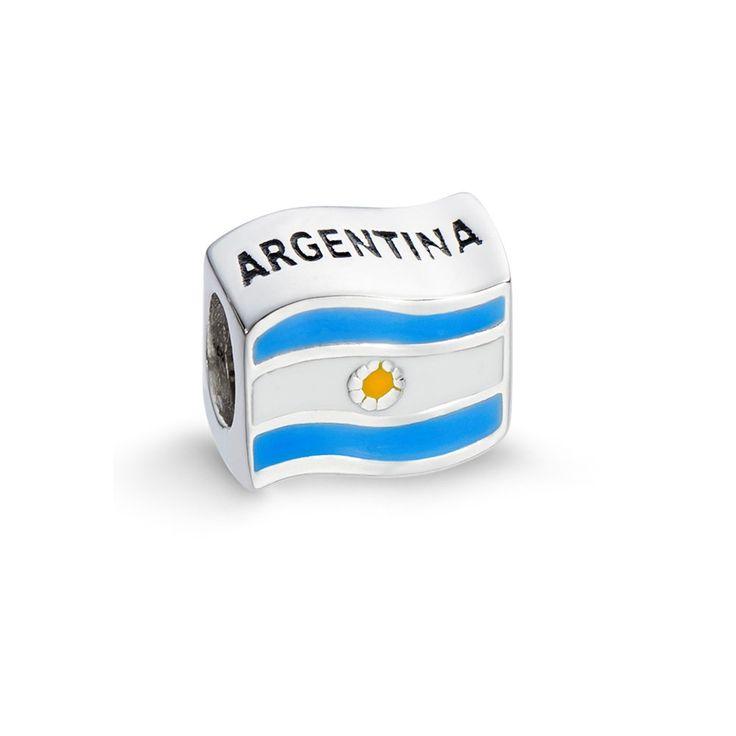 Pingente Bandeira da Argentina em prata 925 esmaltada - Life - Vivara