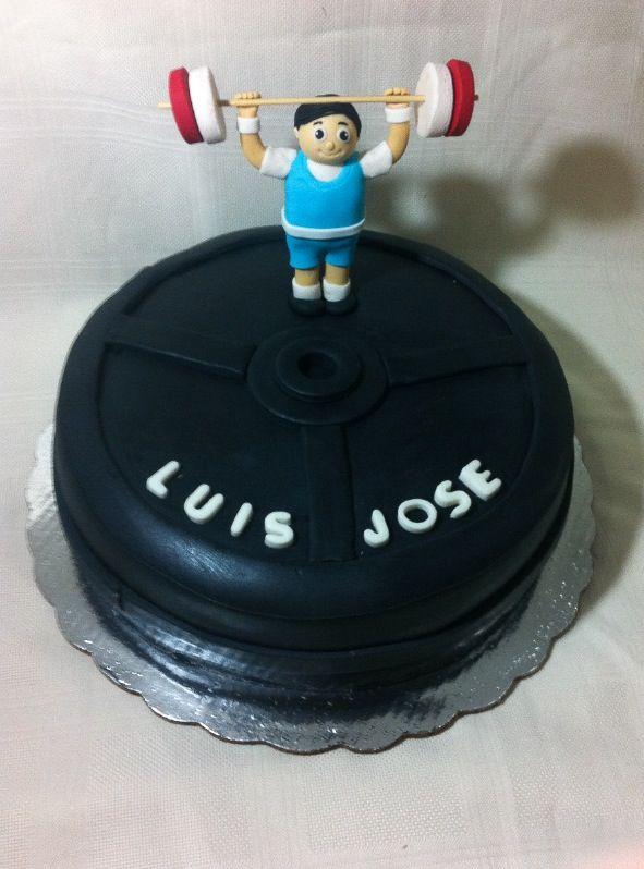 Weightlifting Birthday Cake My Cakes N Cupcakes
