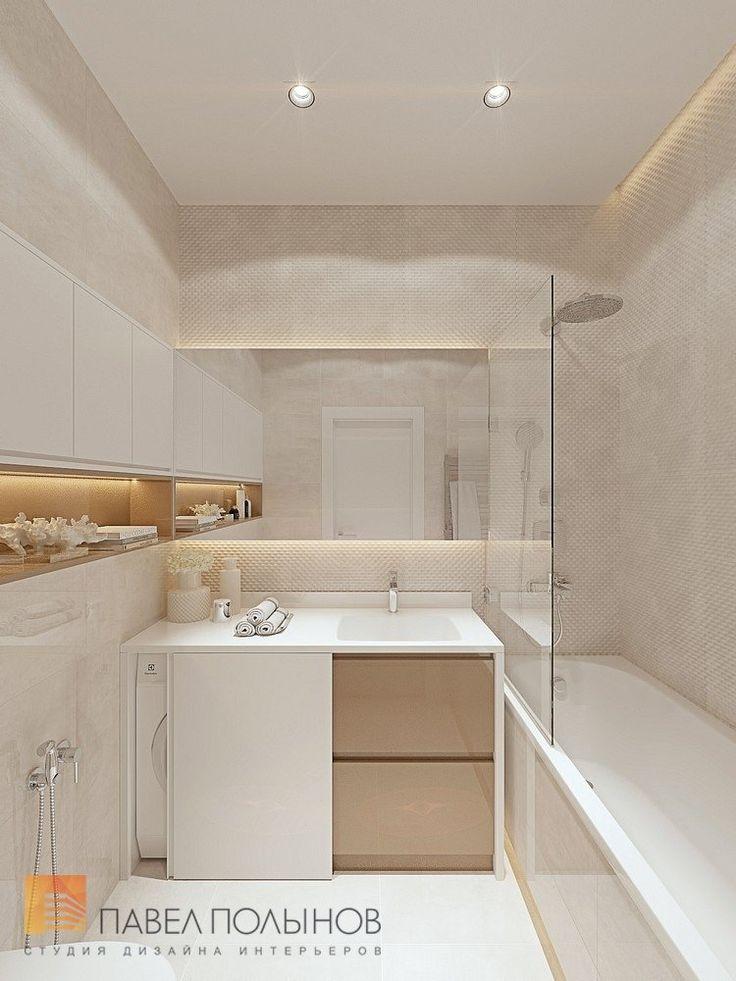 Фото: Ванная комната - Интерьер однокомнатной квартиры в современном стиле