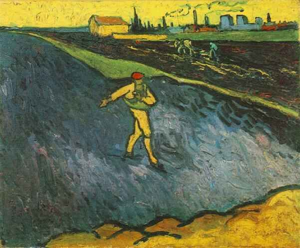 Friends of Vincent (@VanGoghADay) | Twitter  The Sower, Outskirts of Arles in the Background September, 1888 Oil on canvas Los Angeles, The Armand Hammer Museum of Art