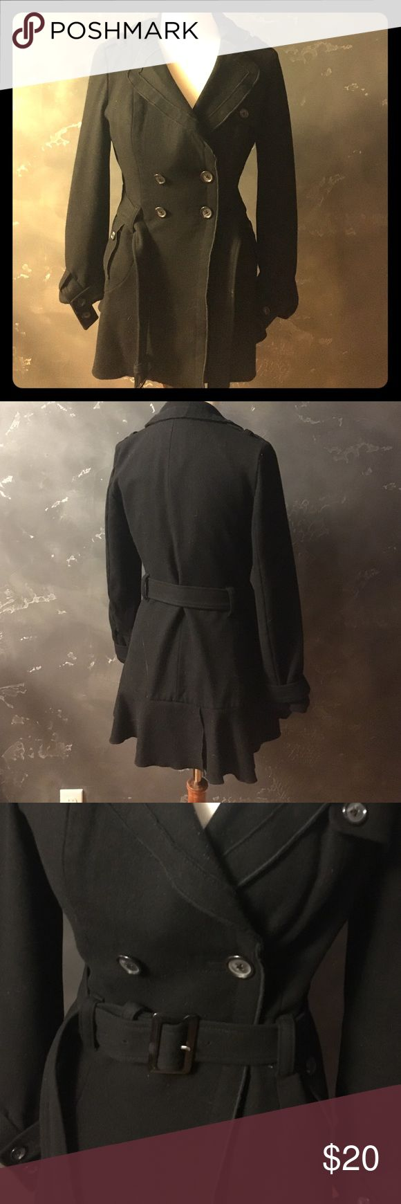 Black Pea Coat Stylish black pea coat. Used. Moda International Jackets & Coats Pea Coats