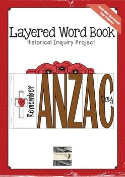 $ A fresh approach to learning about the history of  Anzac Day. This layered word book spells the word ANZAC and each page contains questions for students to answer. This makes a great end of inquiry assessment piece.The contents of the book are directly linked to the Australian Curriculum for History in year three.
