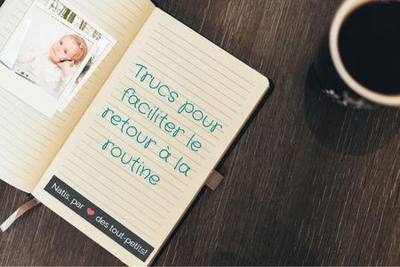 Le retour est difficile ?. Après avoir bien profité de ce long congé, voici quelques petits trucs pour un retour en réalité tout en douceur par Stéphany, notre collaboratrice du blog les mots de nos tout-petits ! Et vous ? Pouvez-vous décrire en un mot votre retour des fêtes?