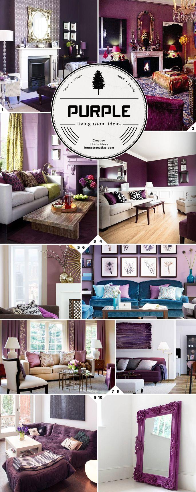 Purple living room design ideas..