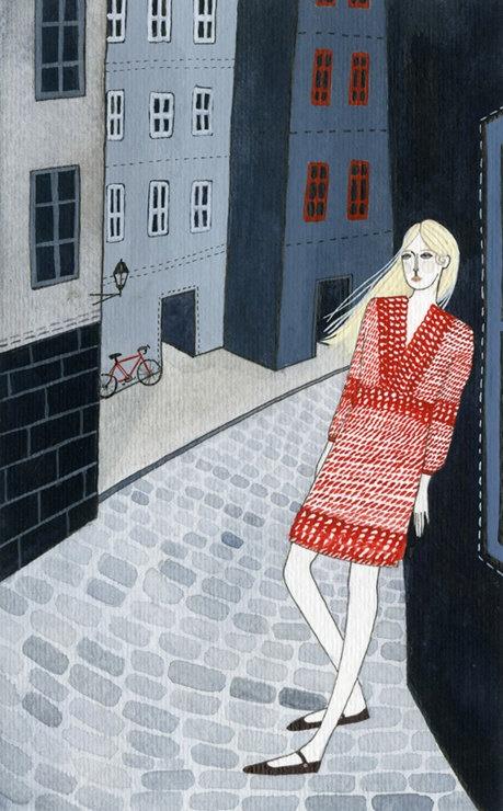 streets of stockholm original painting by ybryksenkova on Etsy, $120.00