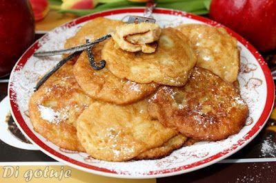 Di gotuje: Placuszki/racuszki z prażonymi jabłkami