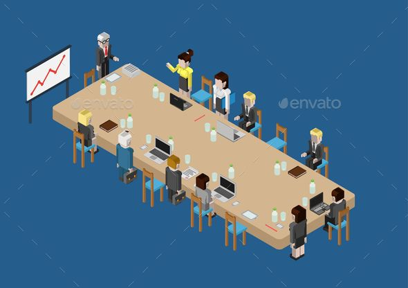 Flat 3D Web Isometric Business Meeting #graphicriver