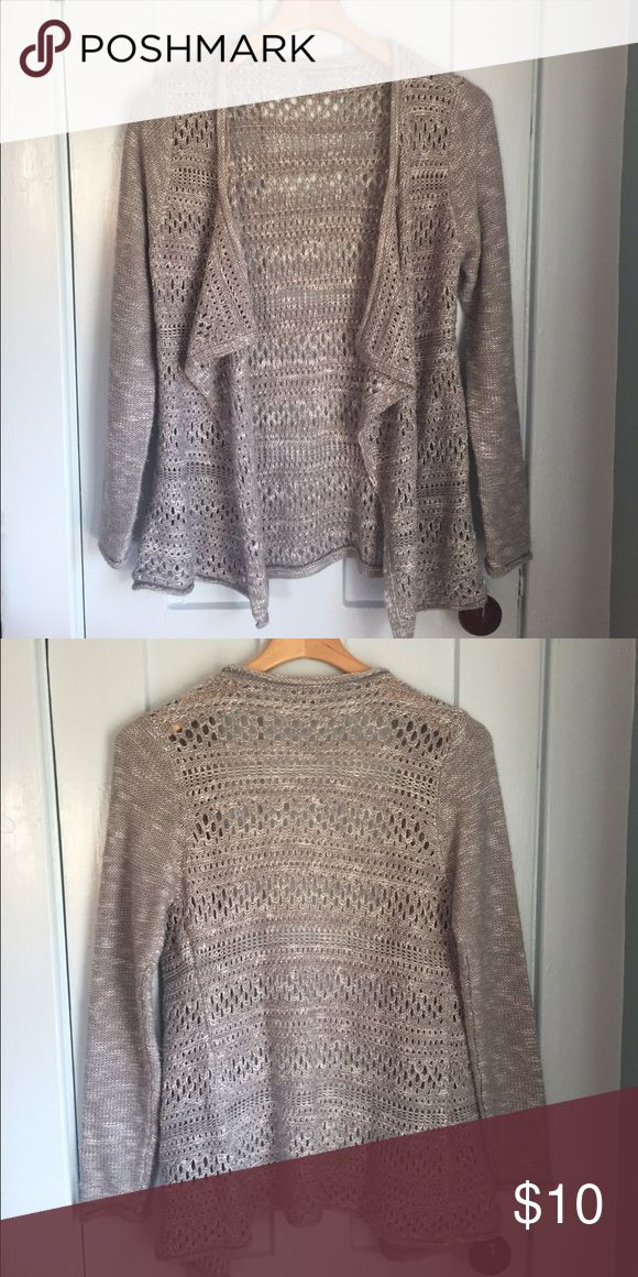 Grey/silver cardigan This cardigan is perfect for fall/winter weather. Looks great with boots! Has no stains, rips or damage of any kind. Comment with questions! Charlotte Russe Sweaters Cardigans