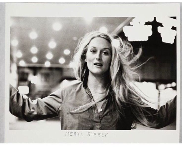 An amazing photo of Meryl Streep.