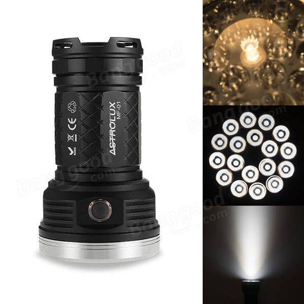 Astrolux MF01 18x XP-G3/Nichia 219C 12000LM Super Bright LED Flashlight 18650 Sale - Banggood.com  #flashlight #light